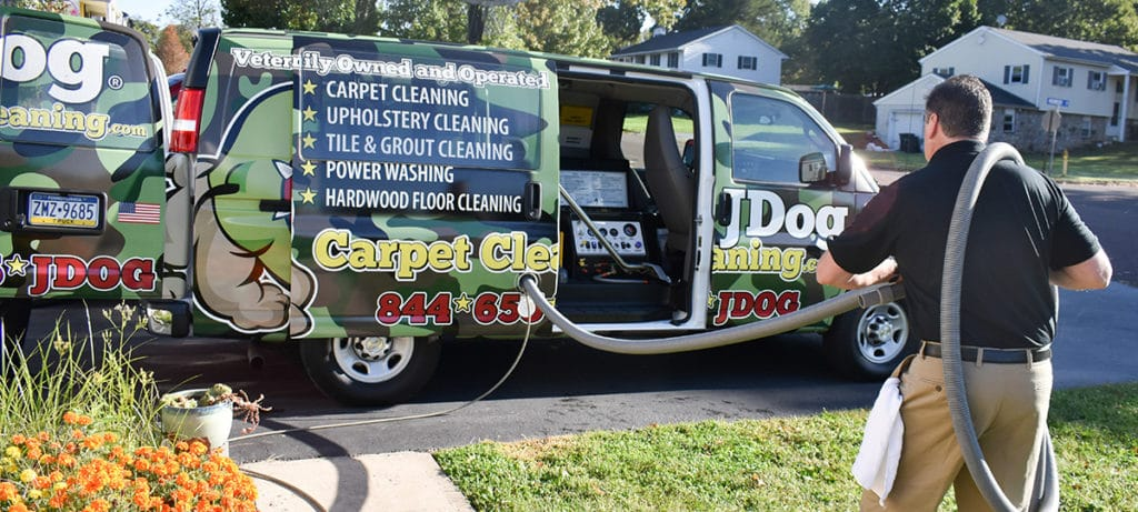 JDog Carpet Cleaning van